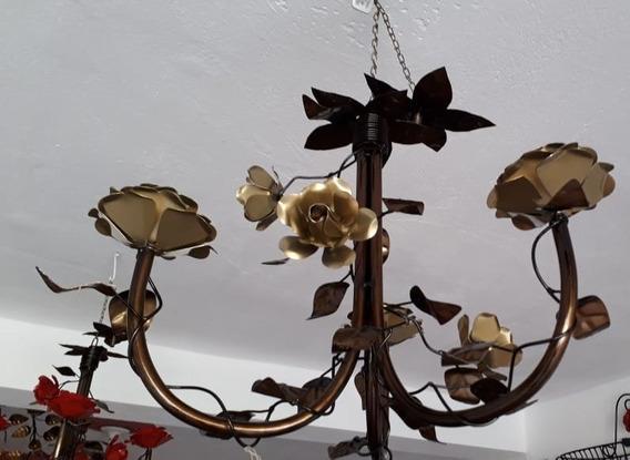 Lustre Em Ferro Com Rosas Frete Gratis Oferta