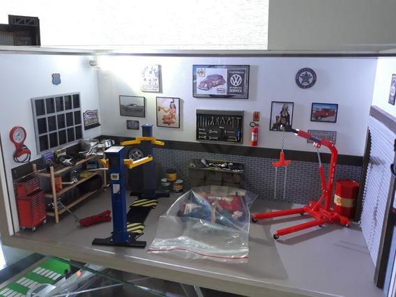 Diorama De Oficina Escala 1:18 Com Iluminação De Led