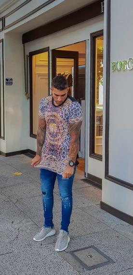 Camiseta Estampa Onça Animal Print