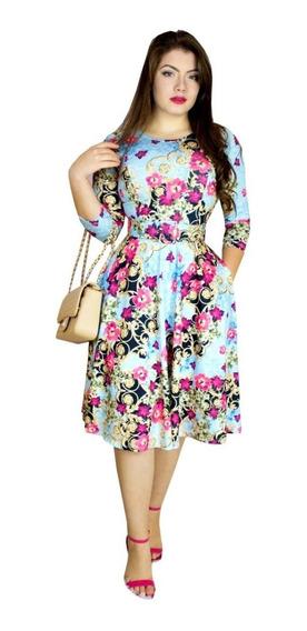 Vestido Moda Evangélica Feminino Godê Ashley