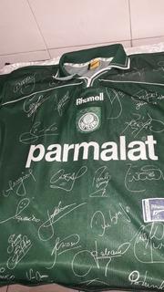 Camisa Do Palmeiras Copa Libertadores 1999 Rhumeel Autograf