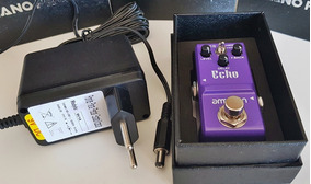 Pedal Delay Echo Ammoon + Fonte 9v Estabi Nano Super Pequeno