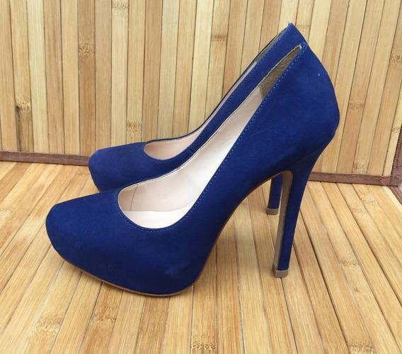 Sapato Scarpin Século Xxx Azul Bic
