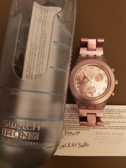 Relógio Swatch Irony Diaphane Rose Estado De Novo!!!