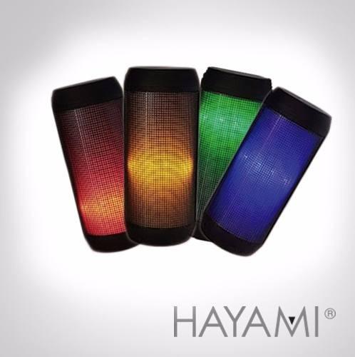 Imagen 1 de 5 de Parlante Bluetooth Luces Led Audiorítmico Hayami
