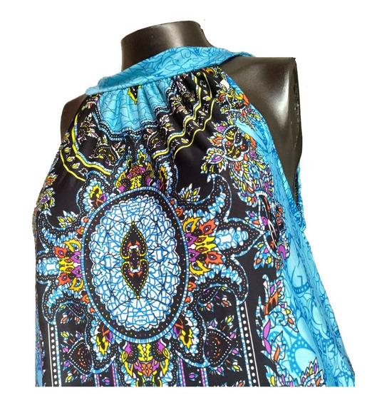 Vestido Corto Hombros Descubiertos Seda Fría Tailandesa