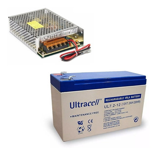 Fuente Ups 12v 4a Amp Switching Carga + Bateria Ul7-12 Original