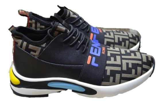 Tenis Sneakers Fendi Caballero, Envío Gratis