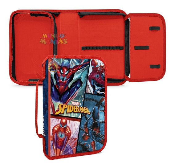 Cartuchera Desplegable Hombre Araña Spiderman Mundo Manias