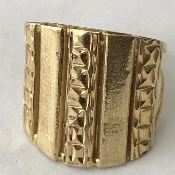 Anel Em Ouro 18k-750, Aro 16, Peso: 2,8 Gramas