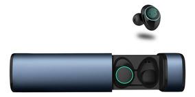 Auriculares De Bluetooth Manos Libres Base De Carga X9 Azul