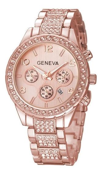Marca De Lujo Geneva Relojes De Mujer Moda Diamante