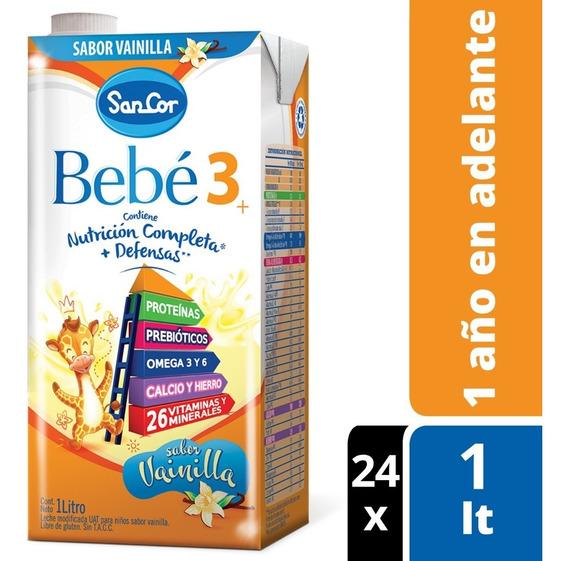 Leche Sancor Bebe 3 Vainilla Nutrición Comp. 1lt X 24un.
