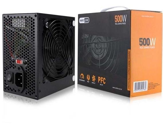 Fonte 500w Hard Line Pfc Ativo Real Gaming Power