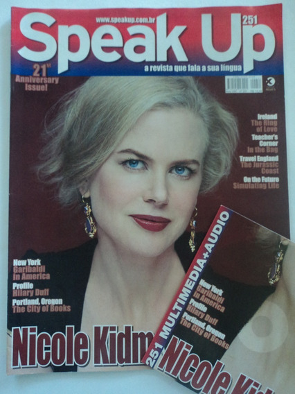 Revista:speak Up:vol.251:+cd:nicole Kidman:inglês