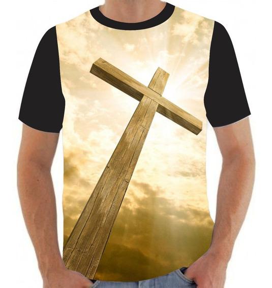 Camiseta Camisa Cruz Cristo Jesus Deus Religião- M06
