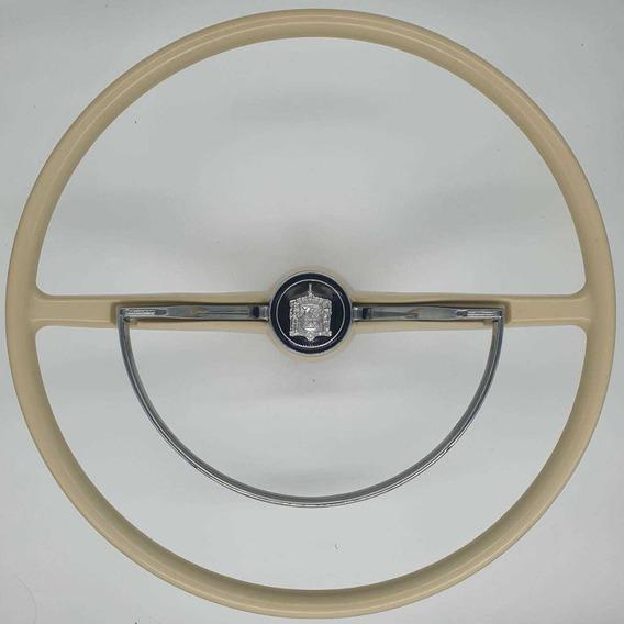 Volante Original Fusca Antigo Preto/marfim / Madeira Novo