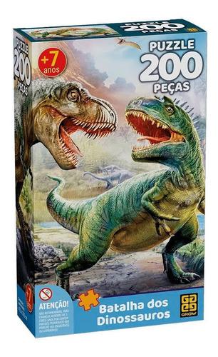 Qc Quebra-cabeca Batalha Dos Dinossauros P200