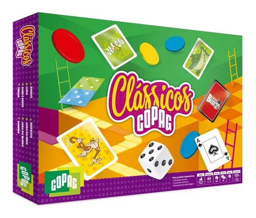Jogo De Tabuleiro Cartas Board Game Jogos Clássicos Copag