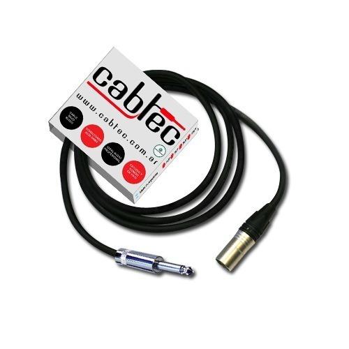 Cable Canon Macho Xlr A Plug Ts Mono Neutrik 3 Metros Cabtec