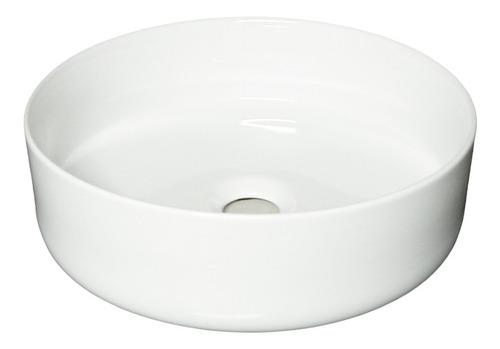 Imagen 1 de 5 de Bacha De Apoyo De Porcelana Cilíndrica De 36 Cm