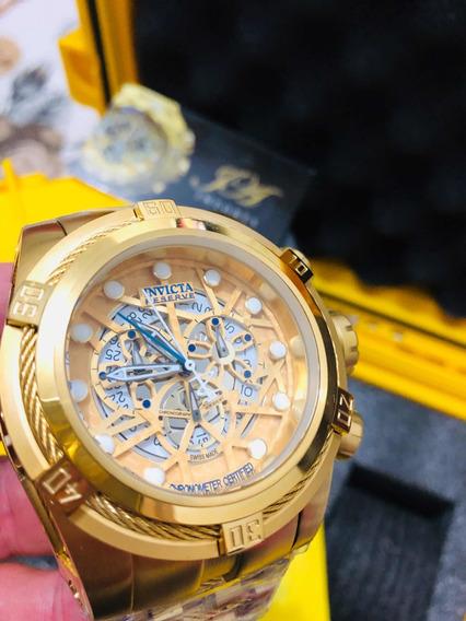 Relógio Invicta Zeus Skeleton 12763 Gold