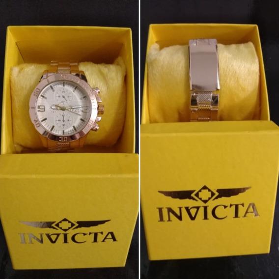 Relógio De Luxo Dourado