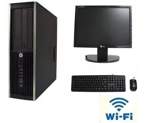 Desktop Completo Core 2 Duo Hp Pronto Pra Uso