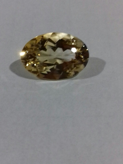 Pedra De Citrino Bicolor Natural 17×12mm Ps 8.5 Cts.