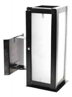 Farol Pared Decorativo Exterior Vidrio Blanco E27 C/mensula