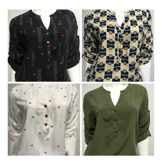 Roupa Feminina Plus Size Kit 04 Blusa Mada Evangélica G1 G3