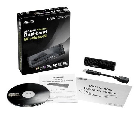 Adaptador De Red Wireless Usb Asus Usb-n53 600n Dualband