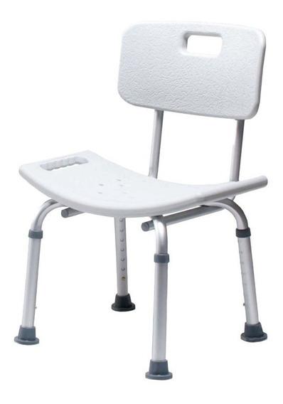 Silla Ducha Baño Para Paciente De Aluminio Color Gris