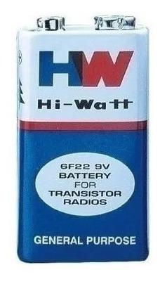 Bateria 9v Hw Hi Watt 6f22 Para Bateria Transistor 1und.