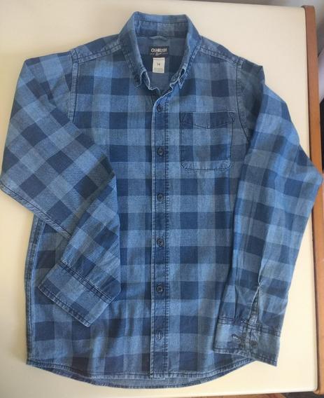 Camisa Oshkosh De Jean Talle 14 Impecable