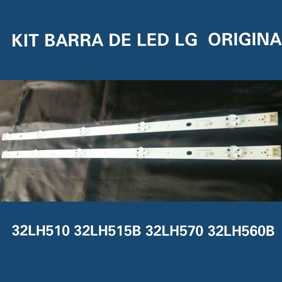 Kit Barra De Led Lg 32lh515-32lh560-32lh570 5 Leds Cada Barra