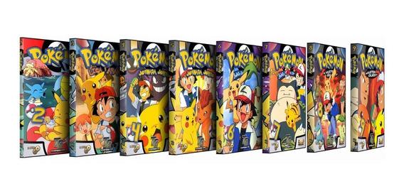 Pokemon - 1ª, 2ª, 3ª, 4ª E 5ª Temporadas - Dublado - 18 Dvds