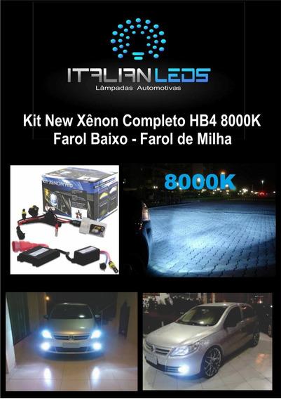 Kit New Xênon Completo Hb4 8000k -