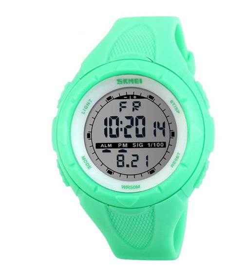 Relógio Feminino Skmei Digital 1074 Verde Claro