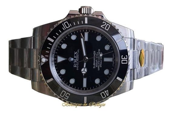 Relógio Eta Modelo Submariner Preto Nodate Aço 904 Noob V10