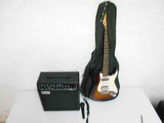 Amplificador30w Guitarra Microfono 100v
