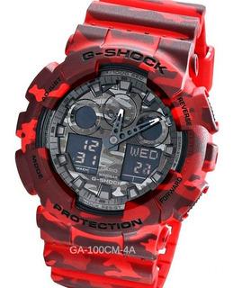 Reloj Casio G-shock Ga-100cm Cronografo Temporizador Resiste Golpes Caidas 20 Atm Watch Fan