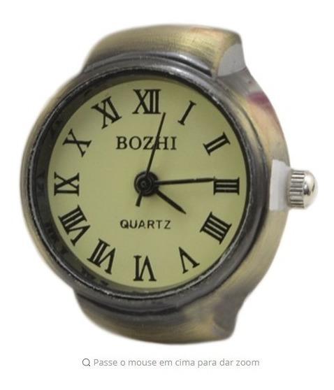 Relógio Feminino Anel De Dedo Em Algarismo Romano