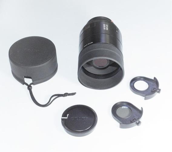 Sony Alpha Lente 500mm Única No Mundo Com Foco Automático ! Leve, Perfeita Para Esportes E Ação! 100%