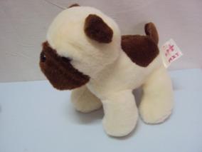 Pelucia Cachorro Branco E Marrom Mxt Tamanho 15cm