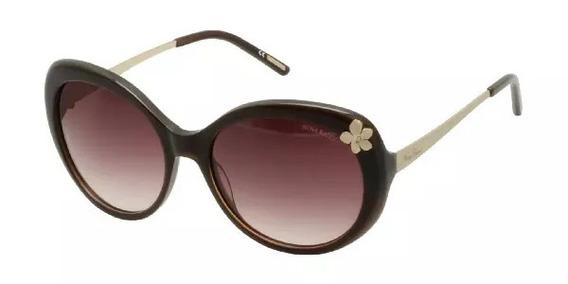 Óculos De Sol Nina Ricci 3242 Acetato Lente Marrom Feminino