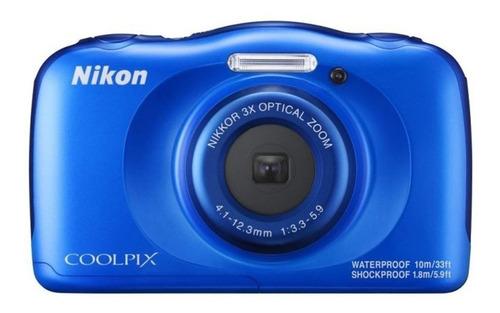 Nikon Coolpix W100 compacta cor azul