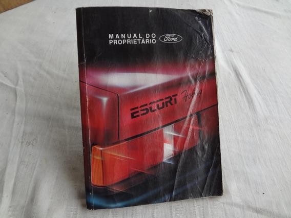 Manual Do Proprietario Ford Escort Hobby 1.0 1.6 93/94