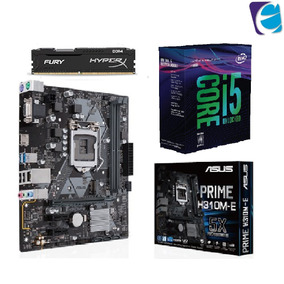 Kit I5 8600k 3.6ghz 8ª G S/cooler Mb H310m-e Hyperx 2x 8gb