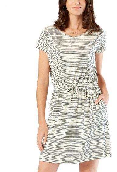 Oferta Vestido Dockers® Mujer Blanco Knit Vera Oatmeal Print